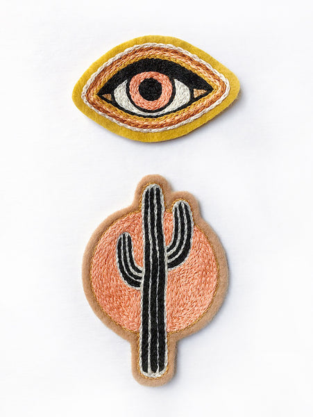 Gold Eye Embroidered Patch