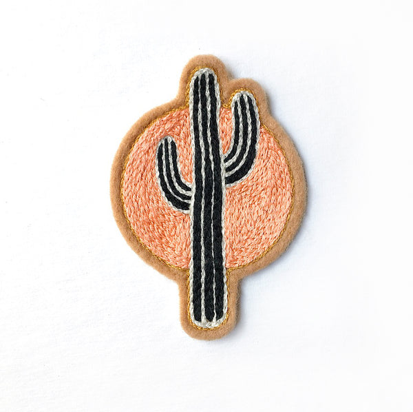 Sunset Cactus Embroidered Patch