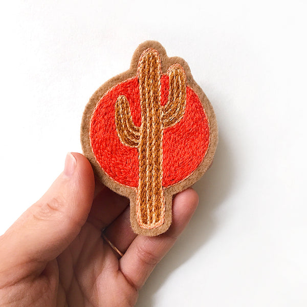 Sunset Cactus No. 1 Embroidered Patch