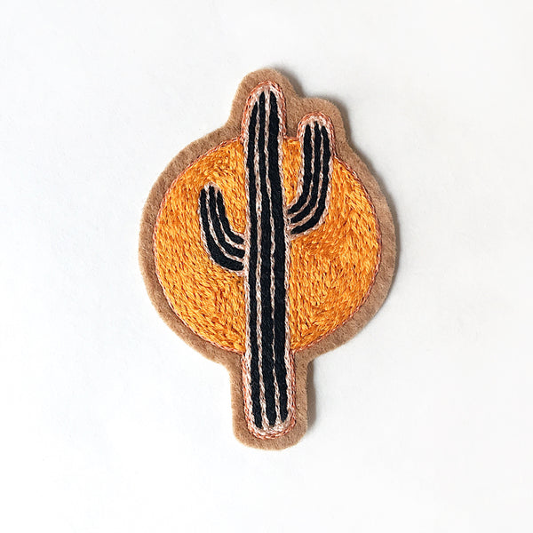 Sunset Cactus No. 2 Embroidered Patch