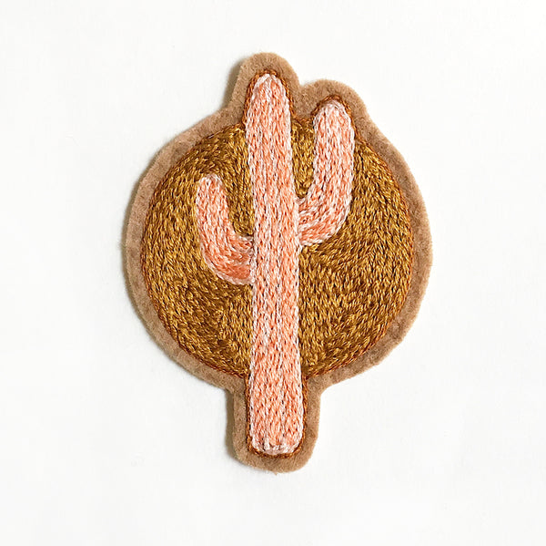Sunset Cactus No. 3 Embroidered Patch