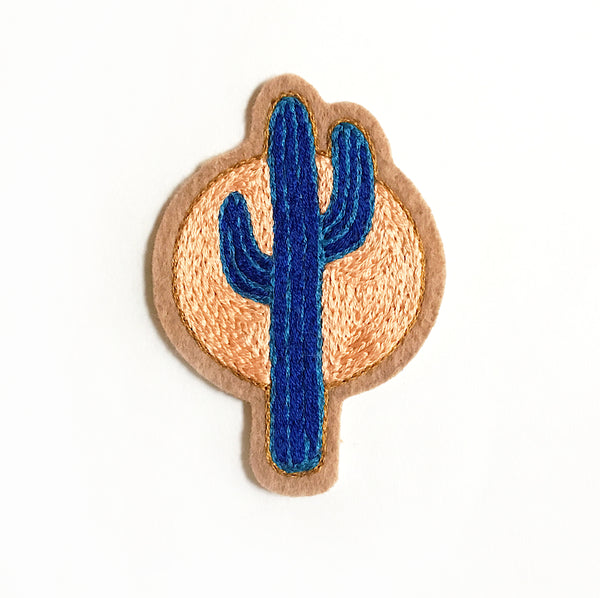 Sunset Cactus No. 4 Embroidered Patch