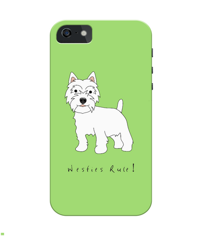 iPhone 4/4s Full Wrap Phone Case - Westies Rule!
