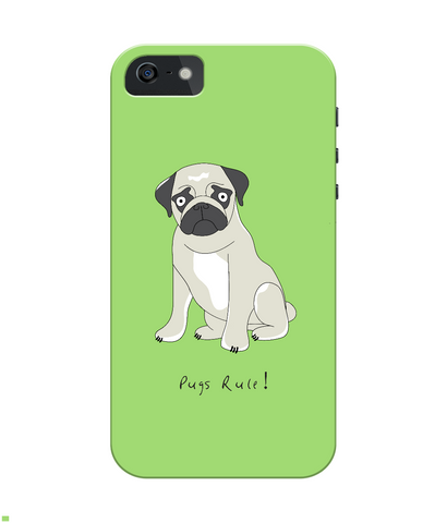 iPhone 4/4s Full Wrap Case - Pugs Rule! - Dogs Rule!