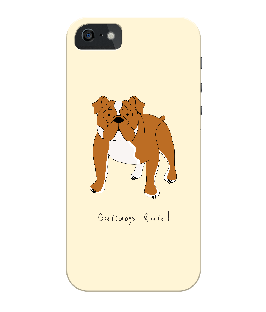 iPhone 5c Full Wrap Case - Bulldogs Rule! - Dogs Rule!