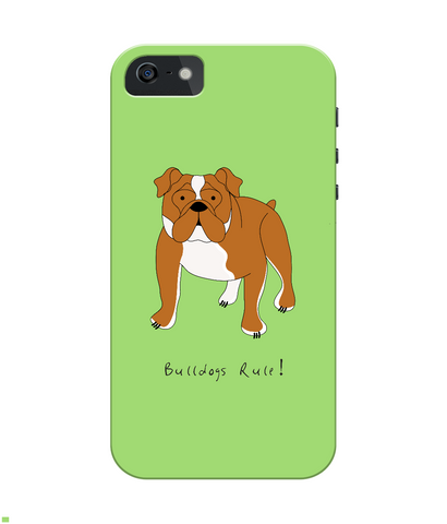 iPhone 4/4s Full Wrap Case - Bulldogs Rule! - Dogs Rule!