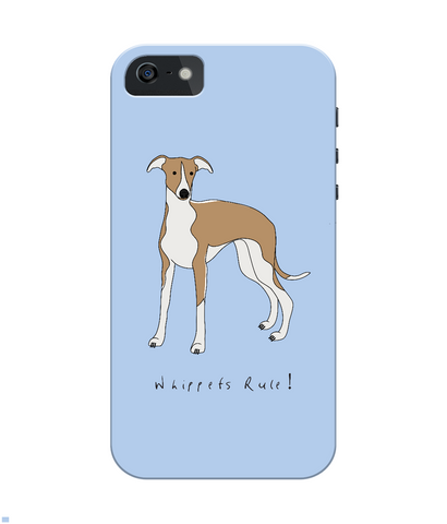 iPhone 4/4s Full Wrap Phone Case - Whippets Rule!