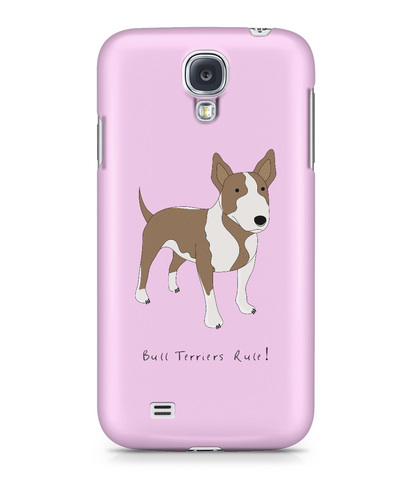 Samsung Galaxy S4 Full Wrap Case - Bull Terriers Rule! - Dogs Rule!