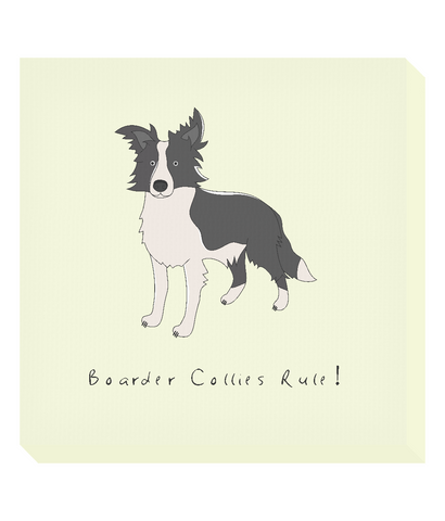 Square Canvas Print -  Boarder Collies Rule!
