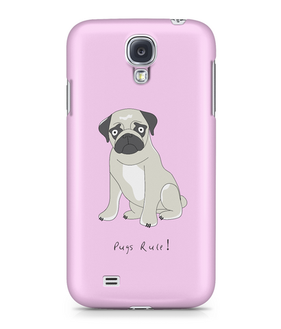 Samsung Galaxy S4 Full Wrap Case - Pugs Rule! - Dogs Rule!