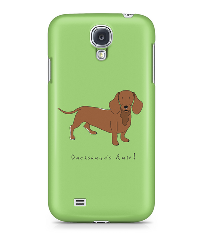 Samsung Galaxy S4 Full Wrap Case - Dachshunds Rule! - Dogs Rule!