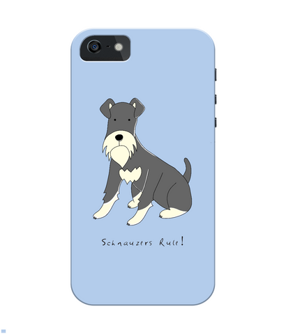 iPhone 4/4s Full Wrap Case - Schnauzers Rule! - Dogs Rule!