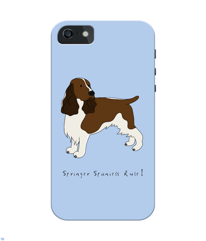 iPhone 4/4s Full Wrap Phone Case - Springer Spaniels Rule!