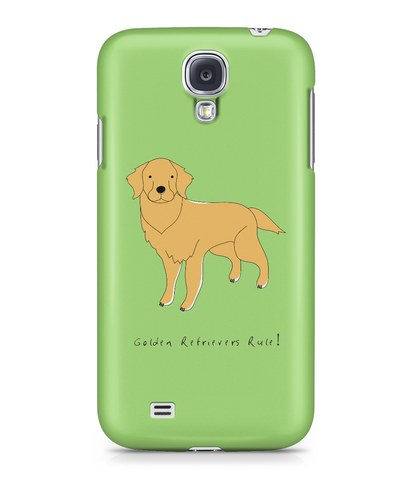 Samsung Galaxy S4 Full Wrap Case - Golden Retrievers Rule! - Dogs Rule!