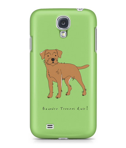 Samsung Galaxy S4 Full Wrap Phone Case - Boarder Terriers Rule!