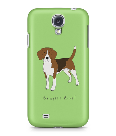 Samsung Galaxy S4 Full Wrap Case - Beagles Rule! - Dogs Rule!