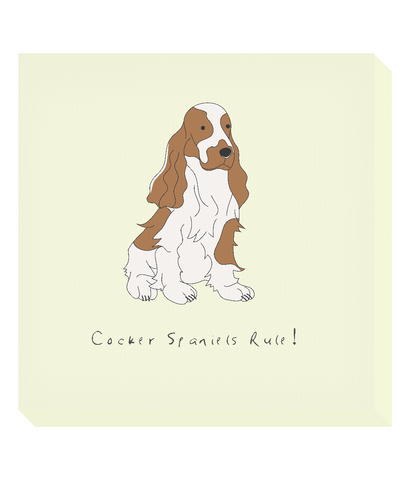 Square Canvas Print -  Cocker Spaniels Rule!