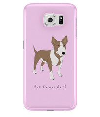 Samsung Galaxy S6 Full Wrap Case - Bull Terriers Rule! - Dogs Rule!