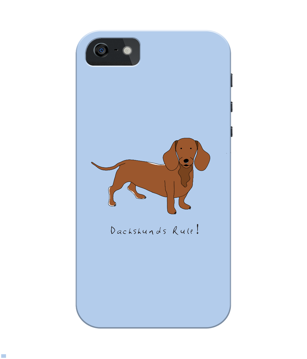iPhone 4/4s Full Wrap Phone Case - Dachshunds Rule!