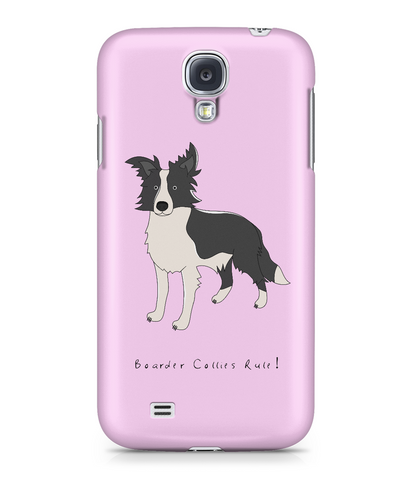 Samsung Galaxy S4 Full Wrap Phone Case - Boarder Collies Rule!