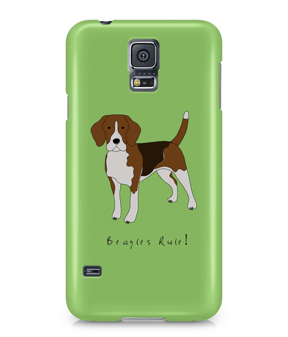 Samsung Galaxy S5 Full Wrap Case - Beagles Rule! - Dogs Rule!