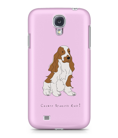 Samsung Galaxy S4 Full Wrap Phone Case - Cocker Spaniels Rule!