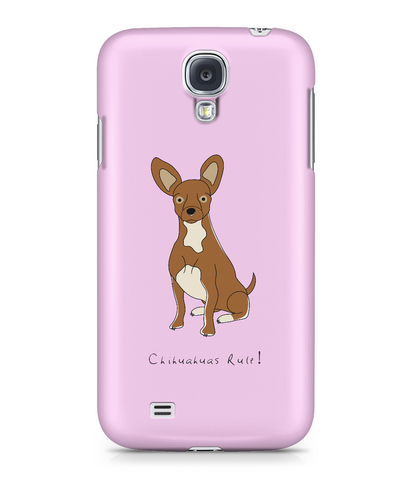 Samsung Galaxy S4 Full Wrap Case - Chihuahuas Rule! - Dogs Rule!
