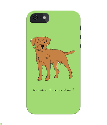 iPhone 4/4s Full Wrap Phone Case - Boarder Terriers Rule!