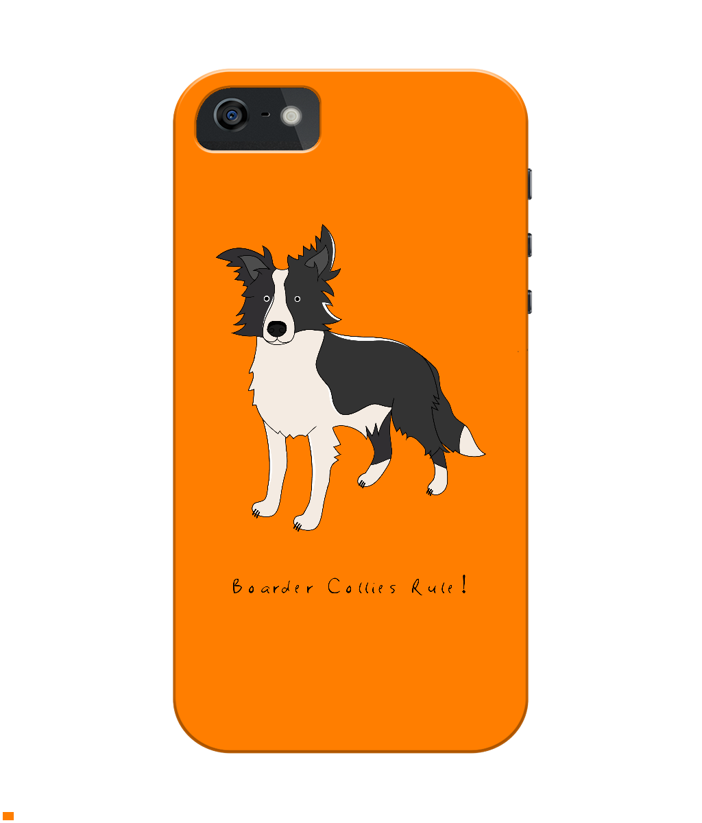 iPhone 4/4s Full Wrap Phone Case - Boarder Collies Rule!
