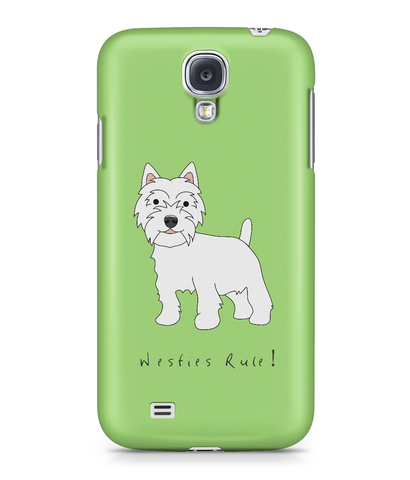 Samsung Galaxy S4 Full Wrap Phone Case - Westies Rule!