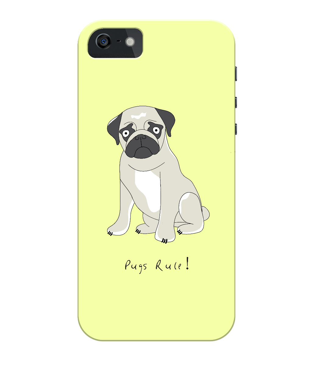 iPhone 5/5s Full Wrap Phone Case - Pugs Rule!