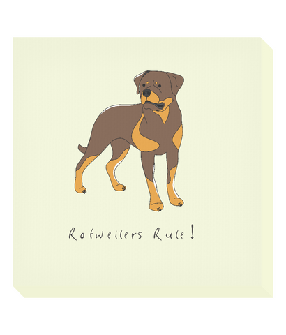 Square Canvas Print - Rotweilers Rule!