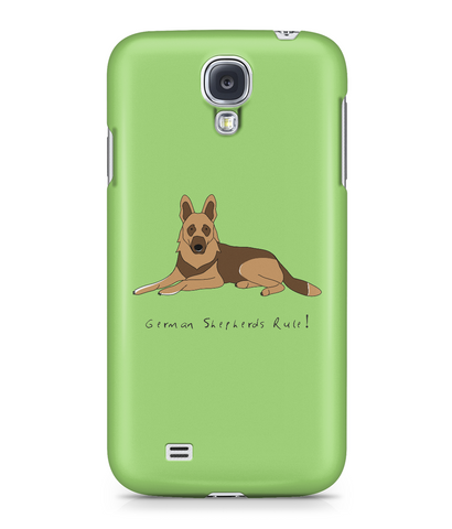 Samsung Galaxy S4 Full Wrap Case - German Shepherds Rule! - Dogs Rule!