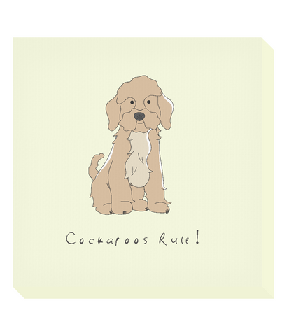 Square Canvas Print -  Cockerpoos Rule!