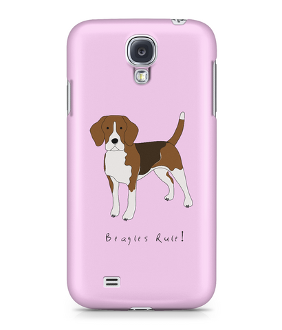 Samsung Galaxy S4 Full Wrap Phone Case - Beagles Rule!