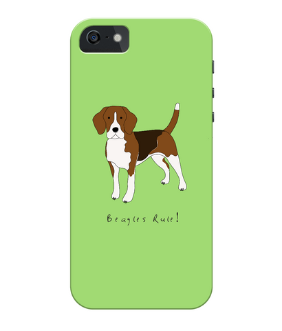iPhone 5/5s Full Wrap Case - Beagles Rule! - Dogs Rule!
