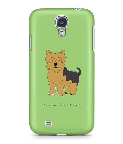 Samsung Galaxy S4 Full Wrap Case - Yorkshire Terriers Rule! - Dogs Rule!