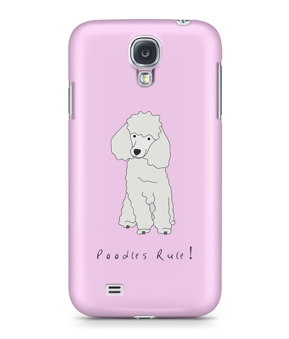 Samsung Galaxy S4 Full Wrap Phone Case - Poodles Rule!
