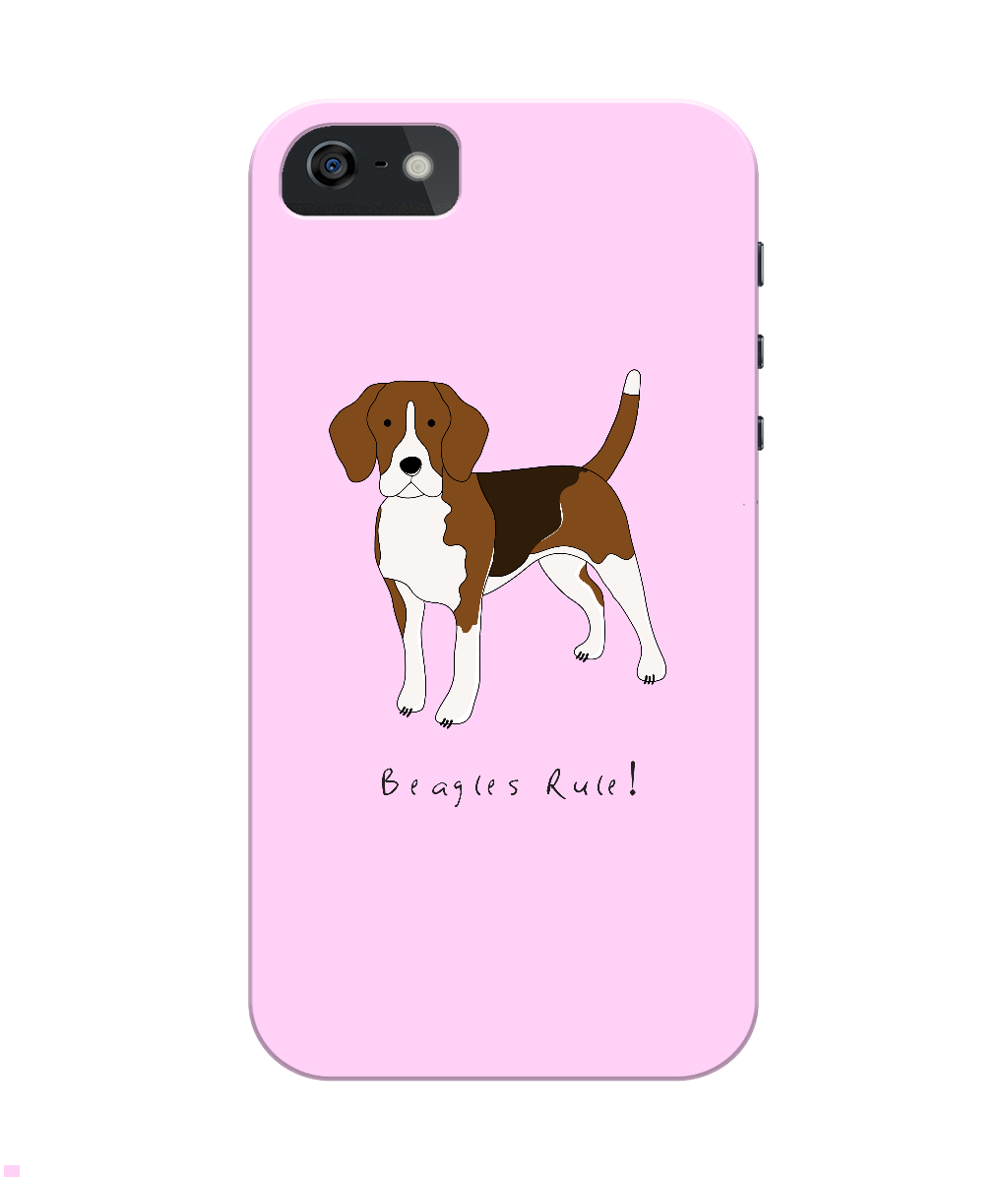 iPhone 4/4s Full Wrap Phone Case - Beagles Rule!