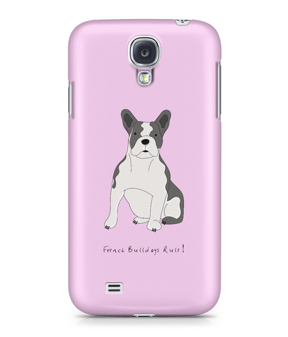 Samsung Galaxy S4 Full Wrap Case - French Bulldogs Rule! - Dogs Rule!