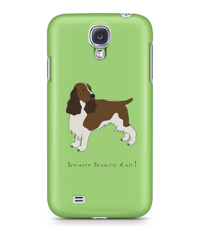 Samsung Galaxy S4 Full Wrap Phone Case - Springer Spaniels Rule!