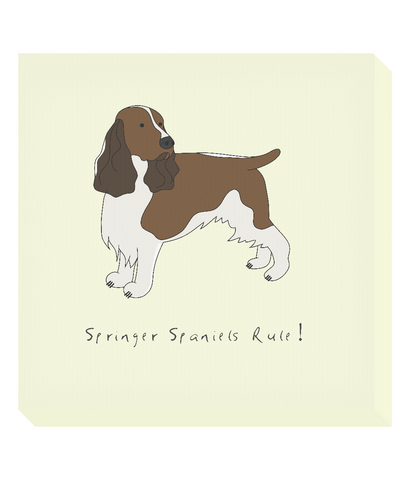 Square Canvas Print - Springer Spaniels Rule!