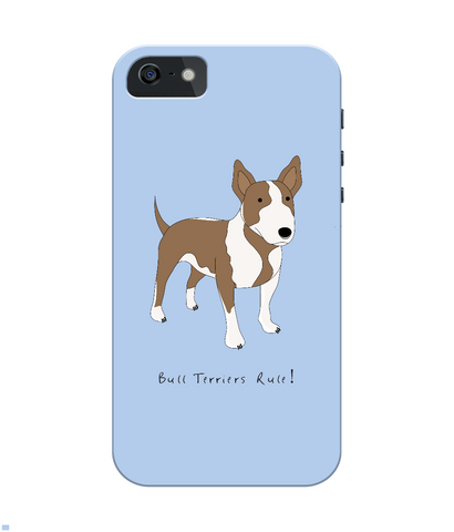 iPhone 4/4s Full Wrap Phone Case - Bull Terriers Rule!
