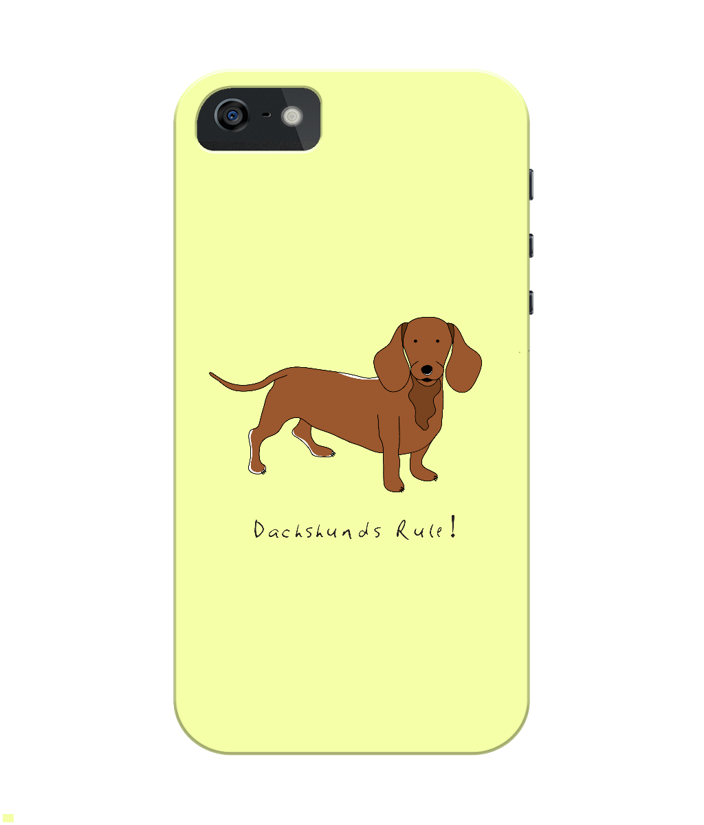 iPhone 4/4s Full Wrap Case - Dachshunds Rule! - Dogs Rule!