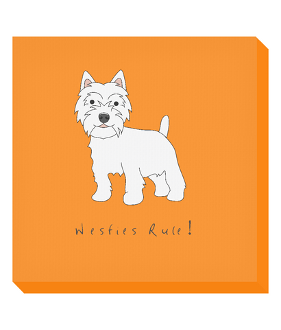 Square Canvas Print - Westies Rule!
