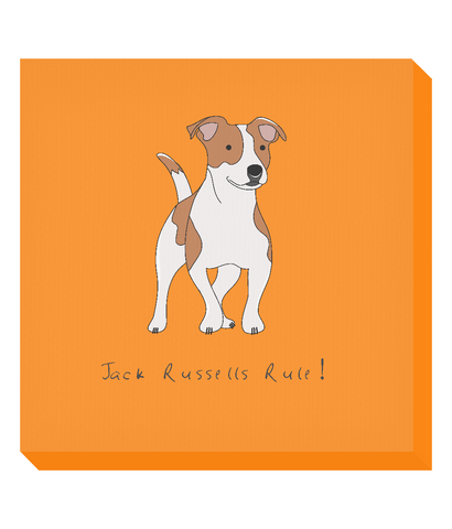 Square Canvas Print - Jack Russells Rule!