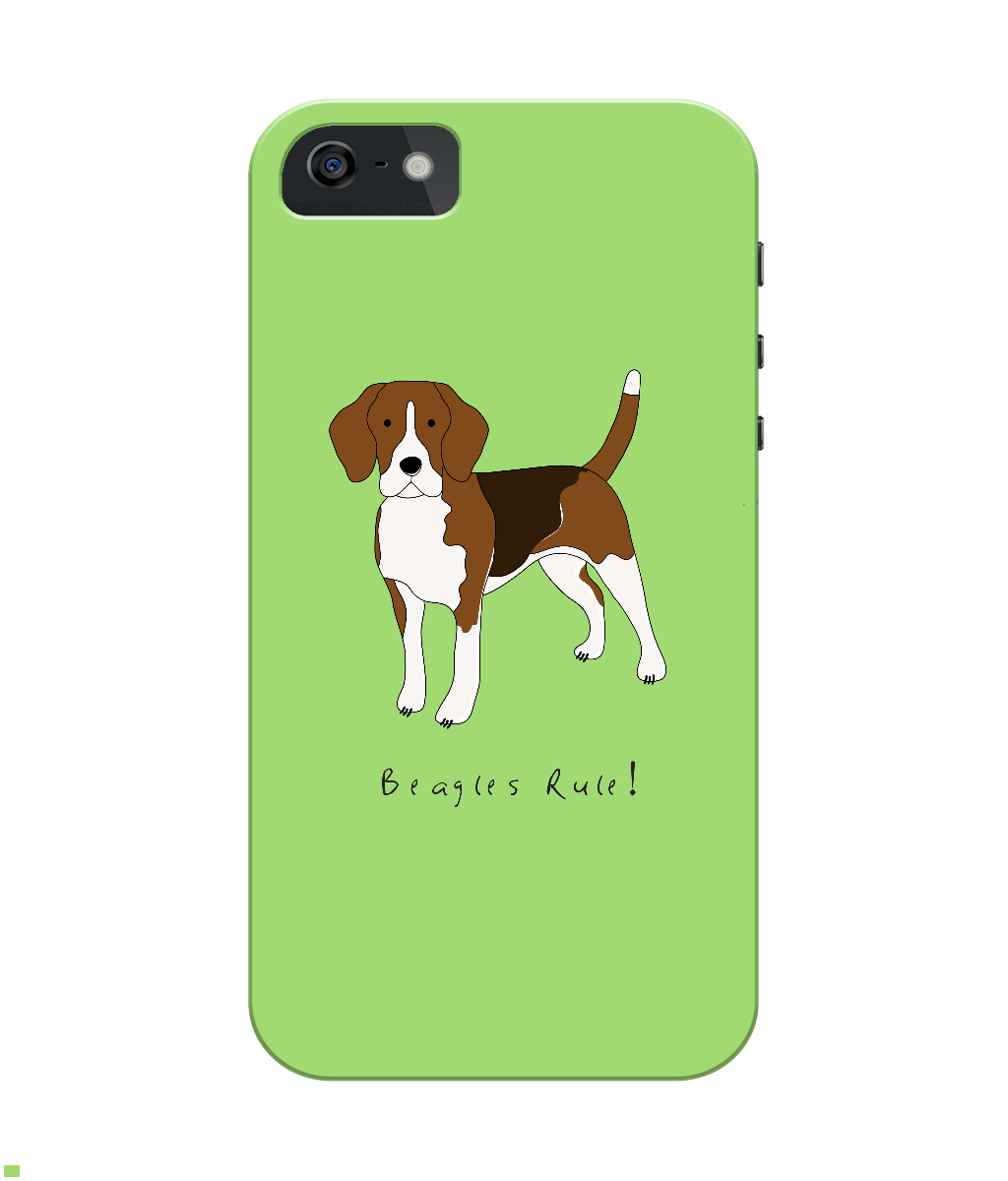 iPhone 4/4s Full Wrap Case - Beagles Rule! - Dogs Rule!