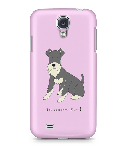 Samsung Galaxy S4 Full Wrap Case - Schnauzers Rule! - Dogs Rule!