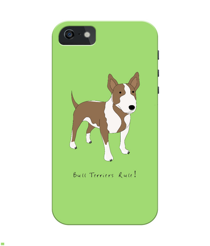 iPhone 4/4s Full Wrap Case - Bull Terriers Rule! - Dogs Rule!