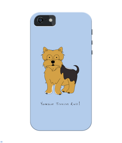 iPhone 4/4s Full Wrap Case - Yorkshire Terriers Rule! - Dogs Rule!